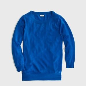 J crew factory Charley merino wool blue sweater
